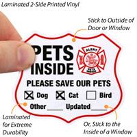 Pets Inside Shield Label Set