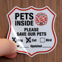 Alert - Please Save Our Pets Label