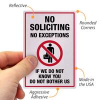 No Soliciting Label Set