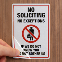 No Soliciting Label Set