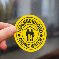 Neighborhood Crime Watch Labels (with Graphic)