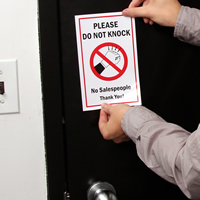 Do Not Knock No Salespeople Labels