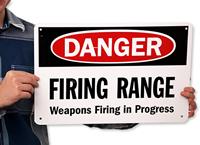 Danger - Shooting Range Keep Out