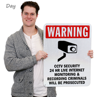 24 Hour Internet Monitoring Security Sign