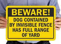 Beware Dog Sign