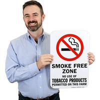 Smoke Free ZoneSign