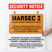 MARSEC Flip Placard