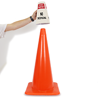 Cone Message Collar Private Property No Trespassing Sign