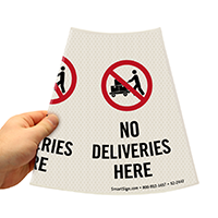 No Deliveries Here Sign