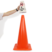 Cone Message Collar Security Sign