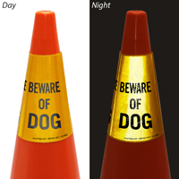 Beware Of Dog Cone Message Collar
