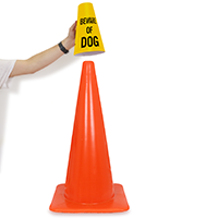 Beware Of Dog Message Cone Collar