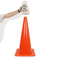 No Trespassing Cone Message Collar