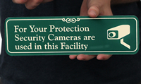 Security Camera with Graphic ShowCase™ Wall Signs~