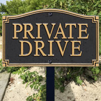 Private Drive With Stake Plaque