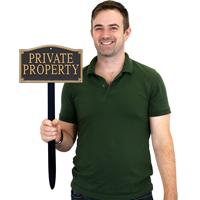 Private Property Gardenboss™ Statement Plaque
