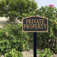 Private Property With Stake Plaque