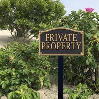 Private Property Statement Plaque