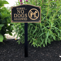 No Dogs Allowed Statement Plaque