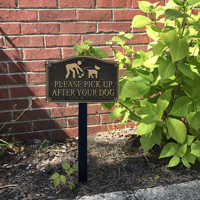 Pick Up After Your Dog Statement Plaque