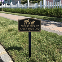 Pick Up After Your Dog Statement Plaque With Stake