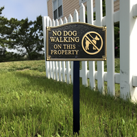 No Dog Walking On This Property Plaque