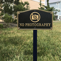 No Photography Statement Plaque