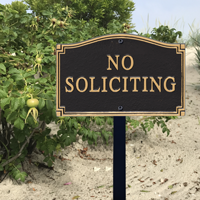 No Soliciting Statement Plaque