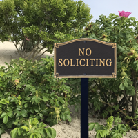 No Soliciting Statement Plaque With Stake