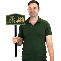 No Carts Gardenboss™ Statement Plaque