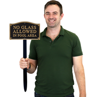 No Glass Allowed Gardenboss™ Statement Plaque