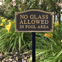 No Glass Allowed Statement Plaque