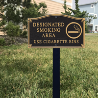 Smoking Area Statement Plaque