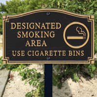 Designated Smoking Area Statement Plaque