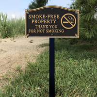 Tobacco Free Zone Statement Plaque