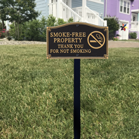 Tobacco Free Zone Statement Lawn Plaque