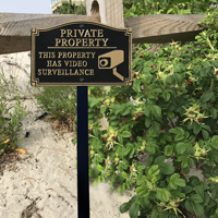 Private Property Plaque With Stake