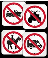 prohibition symbol signs