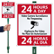 Bilingual 24 Hours A Day Surveillance Sign