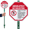 Absolutely No Soliciting LawnBoss Sign