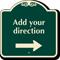 Add Your Parking Direction Custom SignatureSign