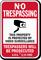 Arizona Trespassers Will Be Prosecuted Sign