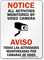 Bilingual All Activities Monitored Video Camera Sign