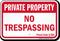 California Private Property Sign
