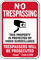 California Trespassers Will Be Prosecuted Sign