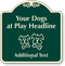 Custom Dogs At Play Signature Sign