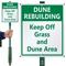 Custom Keep Off Grass, Dune Area Sign Kit