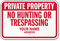 New Hampshire Custom Private Property Sign