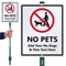 Custom No Pets LawnBoss Sign
