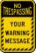 Custom Text No Trespassing Striped Border Sign